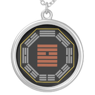 """I Ching Hexagram 9 Hsiao Ch""""u """"Small Accumulating"""" Round Pendant Necklace"""
