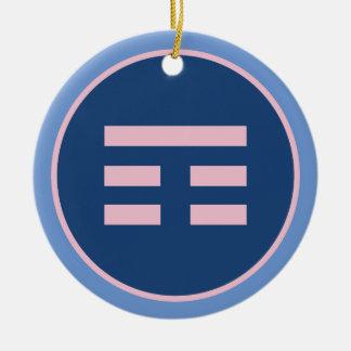 I Ching Mountain Trigram (Gen) Ceramic Ornament