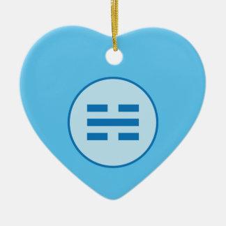 I Ching Water Trigram (Kan) Ceramic Ornament