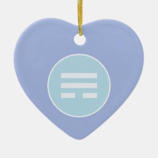 I Ching Wind Trigram (Xun) Ceramic Ornament