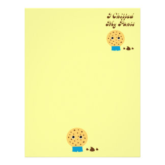 I Chipped My Pants Chocolate Chip Cookie Letterhead