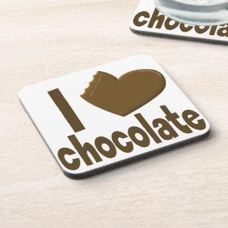 I chocolate del amor del corazón posavasos