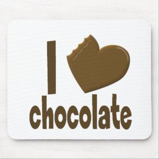 I chocolate del amor del corazón tapetes de ratones