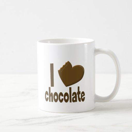 I chocolate del amor del corazón taza clásica