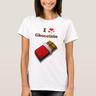 I chocolate del corazón con la barra playera