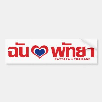 I ❤ Chonburi Tailandia del este de Pattaya del cor Etiqueta De Parachoque