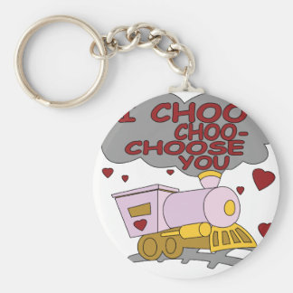I Choo Choo Choose You Keychain