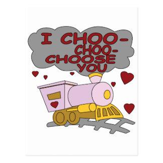 I Choo Choo Choose You Postcard