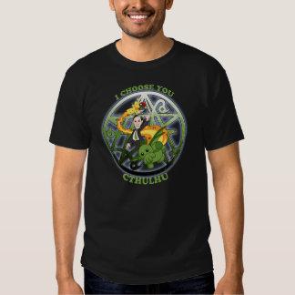 I Choose Cthulhu: Green T Shirt