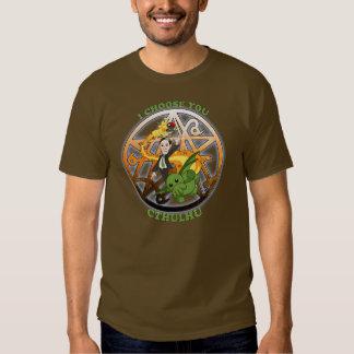 I Choose Cthulhu: Orange T-shirt