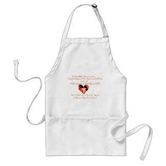 I Choose Hope Orange & Black Heart & Medical symbo Apron