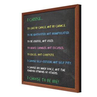 I CHOOSE Motivational Canvas Print