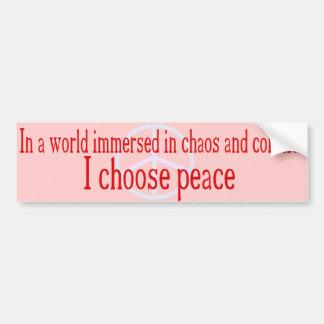 I Choose Peace Bumper Sticker