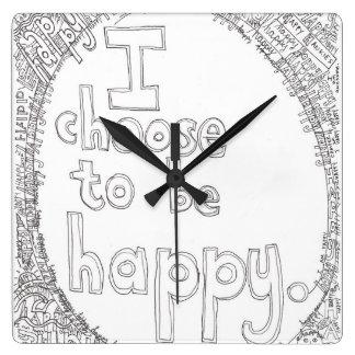I Choose to be Happy Wall Clock