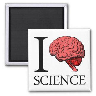 I ciencia de cerebro (sé la ciencia) (ciencia del  imán cuadrado