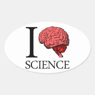 I ciencia de cerebro (sé la ciencia) (ciencia del pegatina ovalada