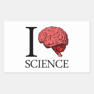 I ciencia de cerebro (sé la ciencia) (ciencia del pegatina rectangular