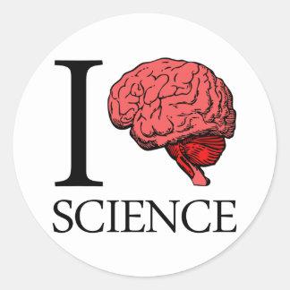 I ciencia de cerebro (sé la ciencia) (ciencia del pegatina redonda