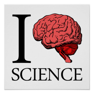 I ciencia de cerebro (sé la ciencia) (la ciencia d póster