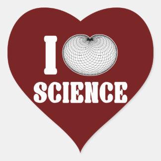 I ciencia del cardidoide pegatina en forma de corazón