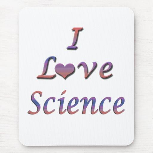 I ciencia del corazón (amor) mousepads