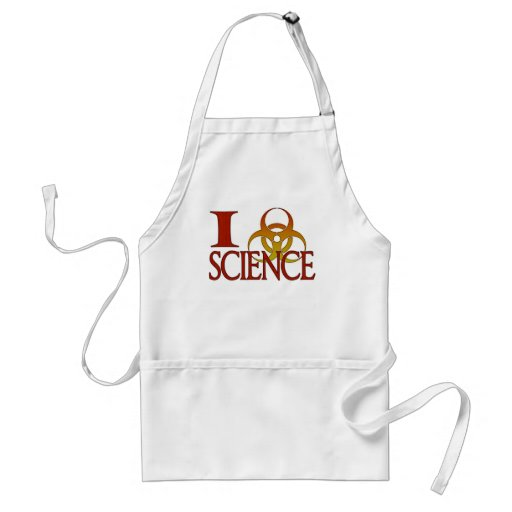 I ciencia del corazón (o símbolo del Biohazard) Delantal