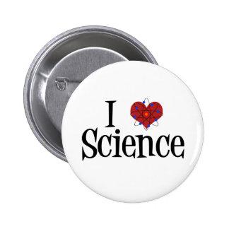 I ciencia del corazón pin redondo 5 cm