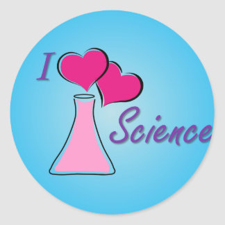 I ciencia del LV Pegatina Redonda