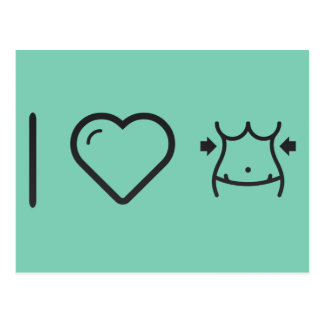 I cinturas de la hembra del corazón tarjetas postales