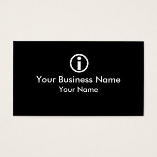 I Circle symbol simple business cards