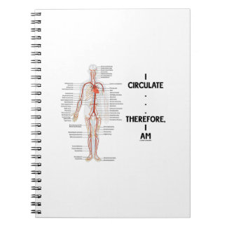 I Circulate . . . Therefore, I Am (Circulation) Spiral Notebooks