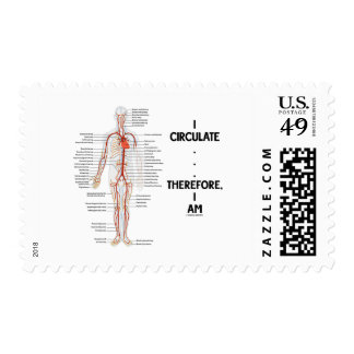 I Circulate . . . Therefore, I Am (Circulation) Postage Stamp