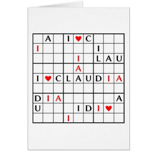 I♥CLAUDIA CARD