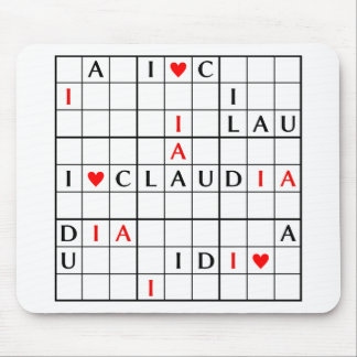 I♥CLAUDIA MOUSE PAD