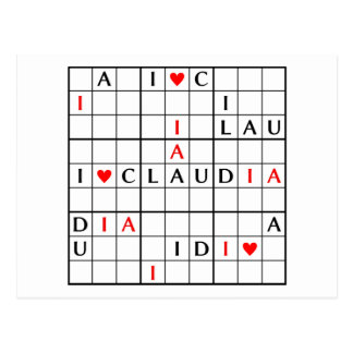 I♥CLAUDIA POSTCARD