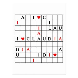 I♥CLAUDIA TARJETAS POSTALES