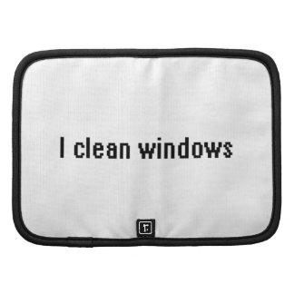 I clean windows planners