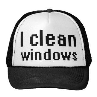 I clean windows trucker hat