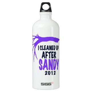 I CLEANED UP AFTER SANDY 2012 ALUMINUM WATER BOTTLE