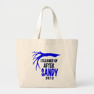 I CLEANED UP AFTER SANDY 2012 TOTE BAGS