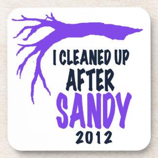 I CLEANED UP AFTER SANDY 2012 BEVERAGE COASTER