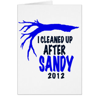 I CLEANED UP AFTER SANDY 2012 CARD