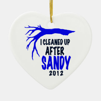 I CLEANED UP AFTER SANDY 2012 CERAMIC ORNAMENT