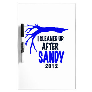 I CLEANED UP AFTER SANDY 2012 DRY ERASE WHITEBOARDS
