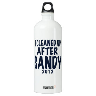 I Cleaned Up After Sandy 2012, Hurricane Sandy Aluminum Water Bottle