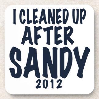 I Cleaned Up After Sandy 2012, Hurricane Sandy Beverage Coaster