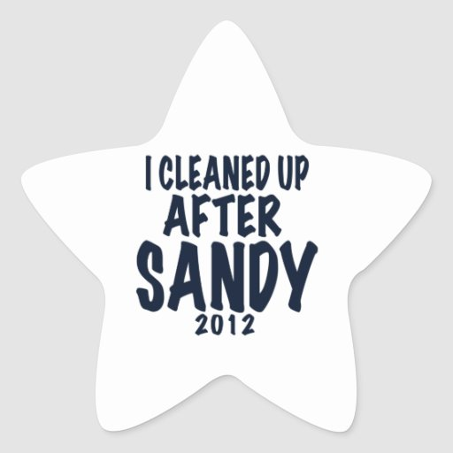 I Cleaned Up After Sandy 2012, Hurricane Sandy Sticker
