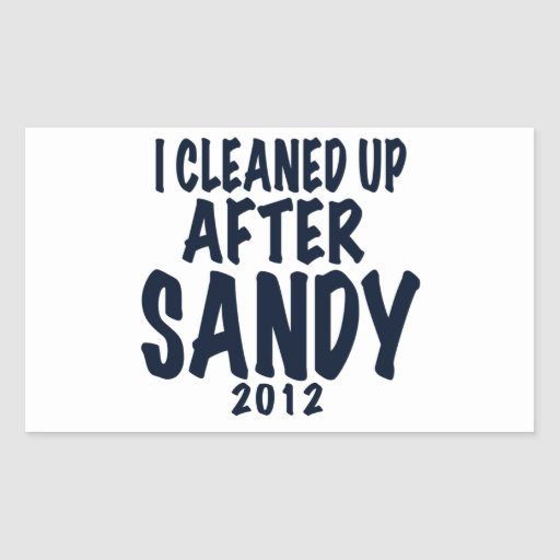 I Cleaned Up After Sandy 2012, Hurricane Sandy Rectangular Stickers