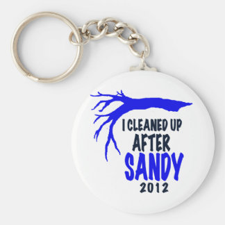 I CLEANED UP AFTER SANDY 2012 BASIC ROUND BUTTON KEYCHAIN