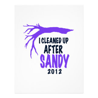 I CLEANED UP AFTER SANDY 2012 CUSTOM LETTERHEAD